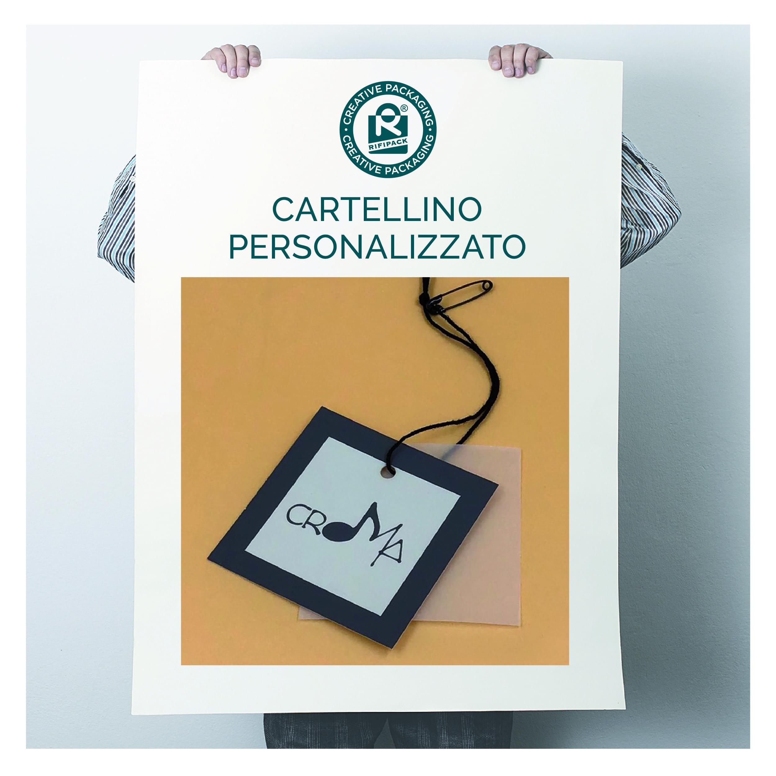rifipack materiale tipografico cartellino personalizzato con cartellino di servizio con spilla laccetto con nodo