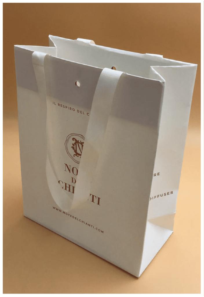 rifipack shopper personalizzate lusso foro centrale allestimento a scomparsa carta pregiata