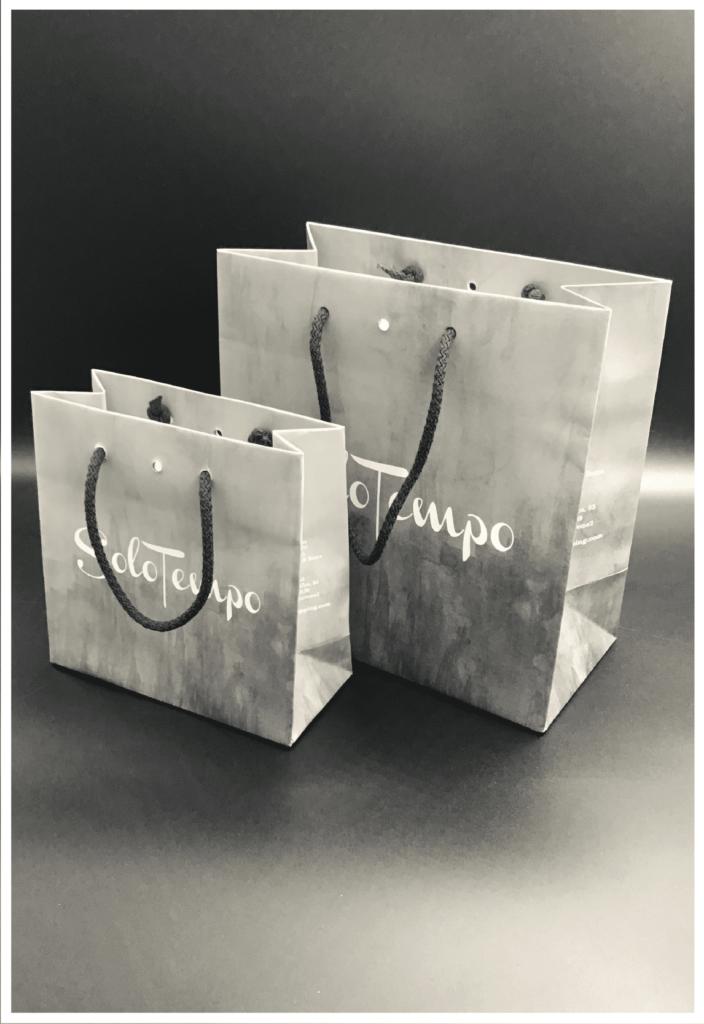 rifipack shopper personalizzate lusso orologio gioielli foro centrale
