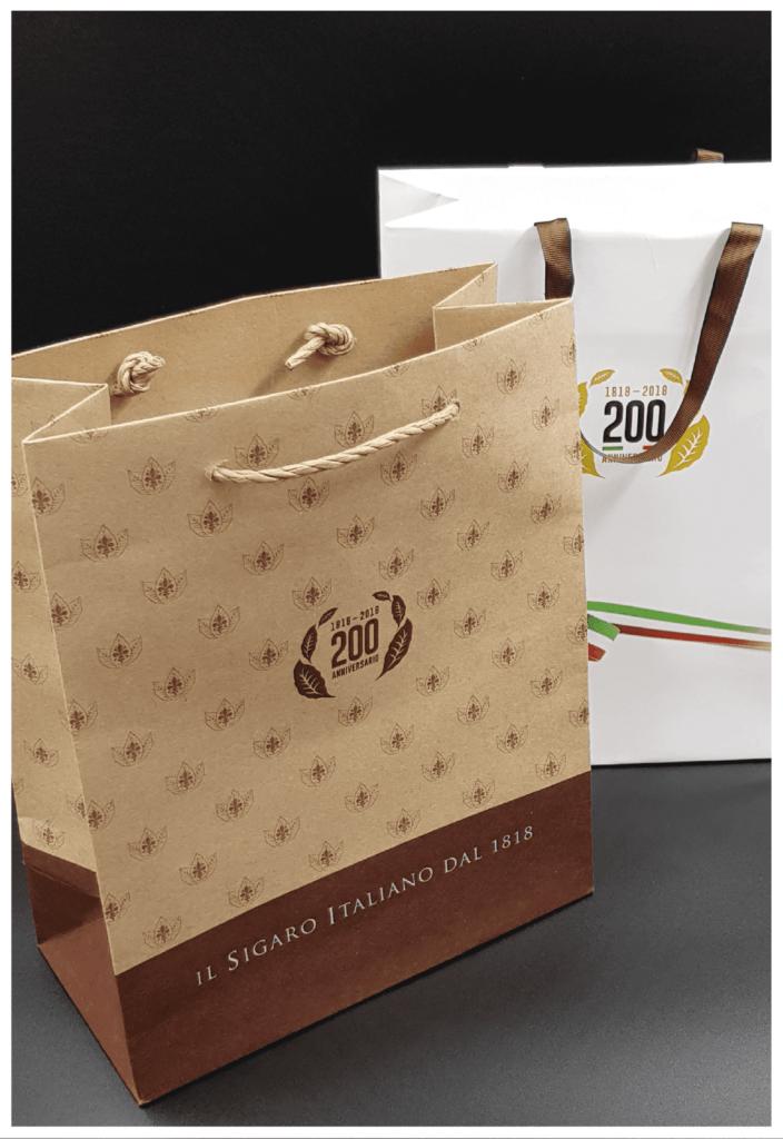 rifipack shopper sigaro toscano personalizzato lusso ecologico