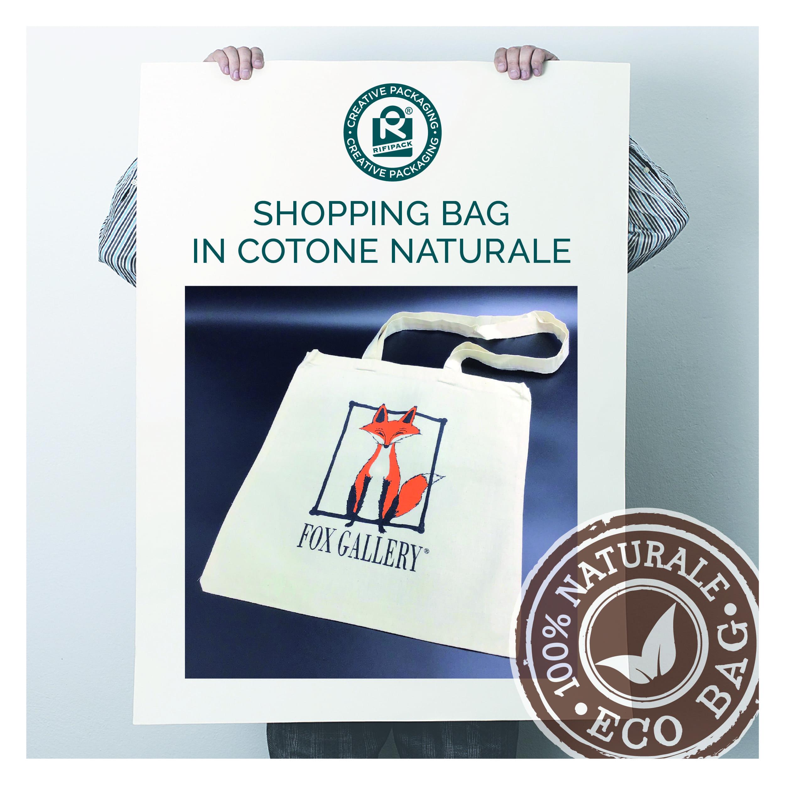rifipack shopping bag shopper borse sportine in cotone naturale eco bag naturale
