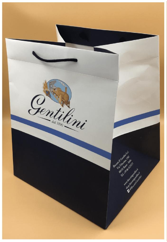 shopper fondo largo rifipack biscotti gentilini panettone colomba