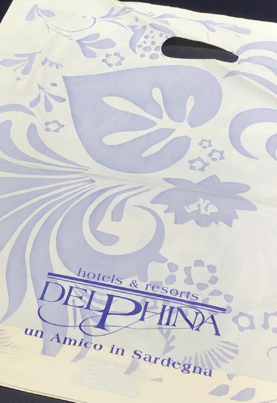 delphina resort spa sardegna shopper biodegradabili compostabili personalizzate alto spessore soffietto sul fondo rifipack