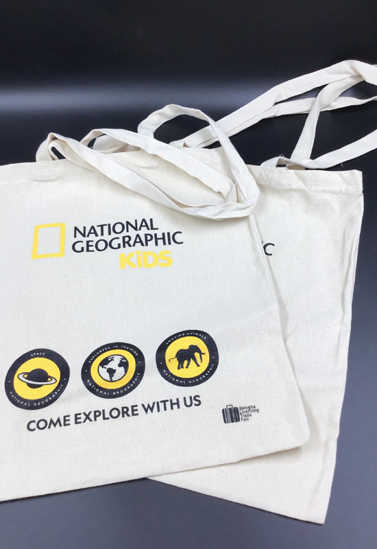 national geographic kids shopping bag cotone naturale