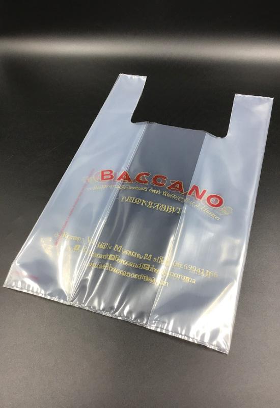 plastica trasparente lucida opaca shopper sacchetti buste personalizzate asporto take away food stampa logo flessografica flexo rifipack