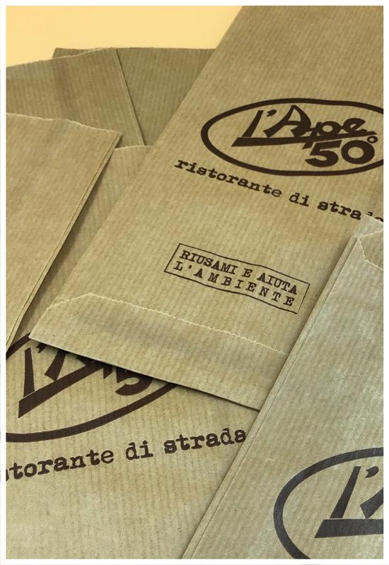 rifipack dettaglio carta sealing avana sacchetto fondo piatto