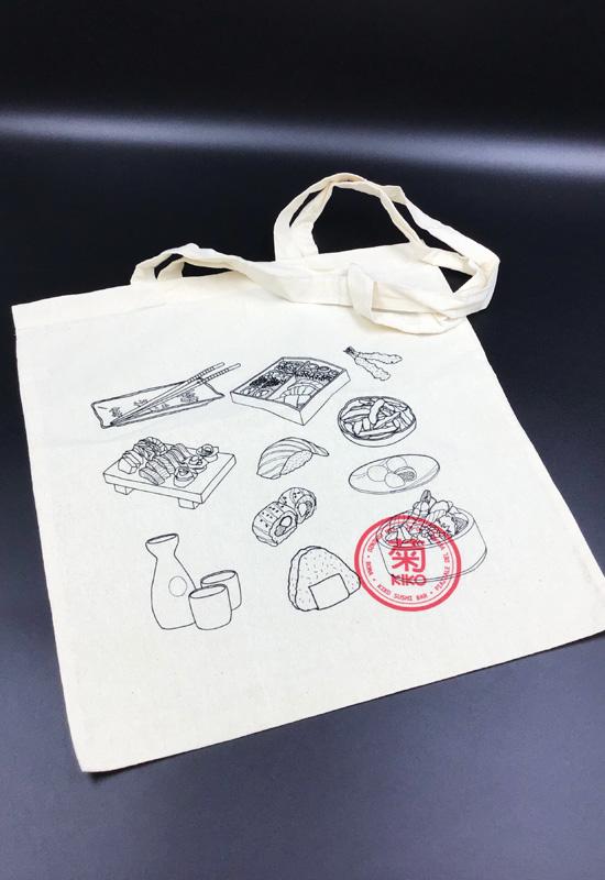 sushi luxury food shopper take away da asporto borsa cotone naturale personalizzata rifipack
