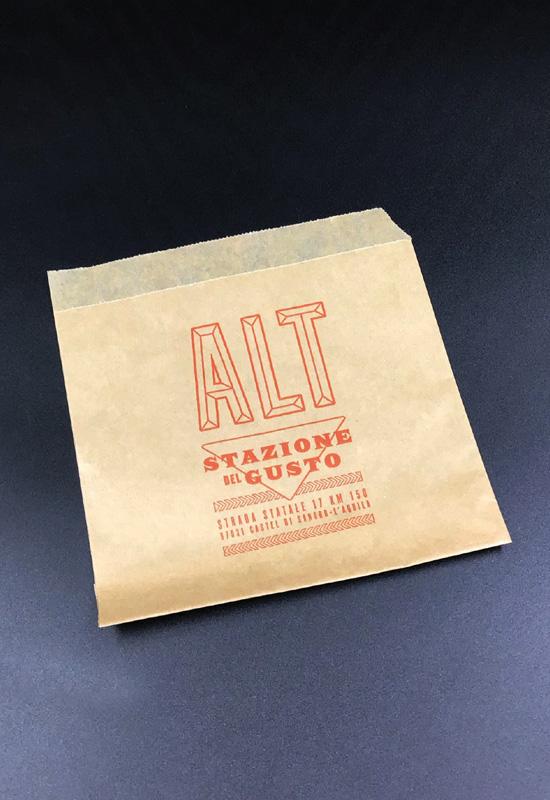 tasche porta panino street food personalizzate carta antiunto antigrasso supplì piadine pizza rifipack