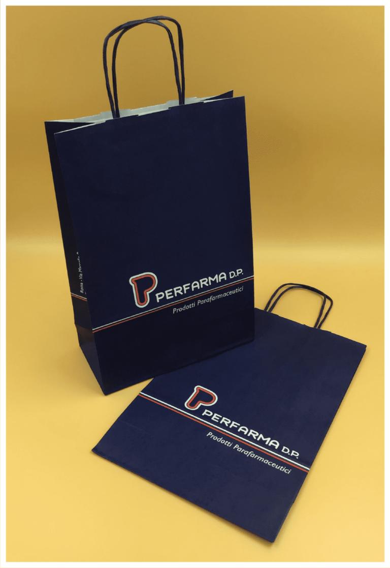 perfarma shopper in carta economiche maniglia ritorta rifipack shopper personalizzate