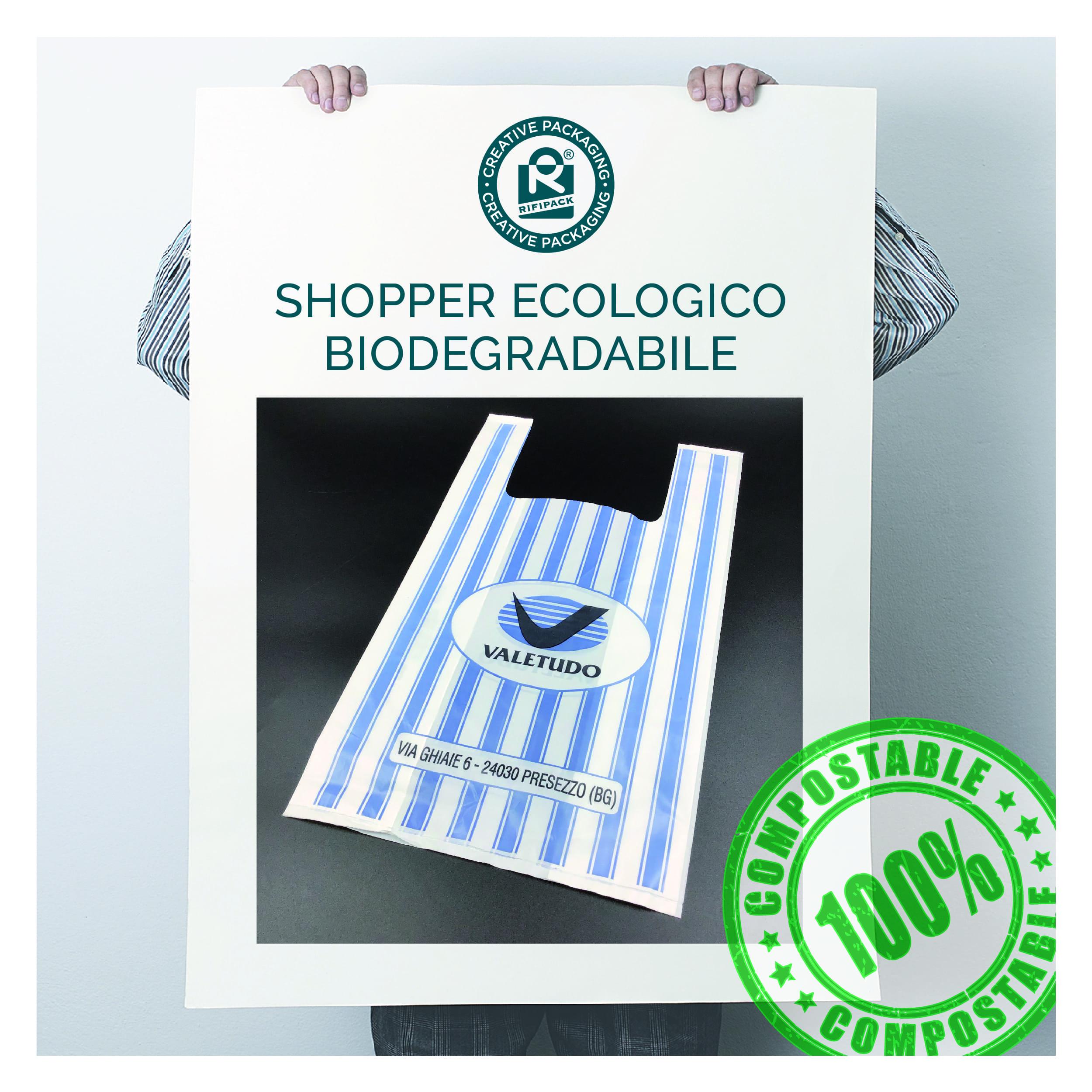 rifipack shopper ecologico biodegradabile compostabile