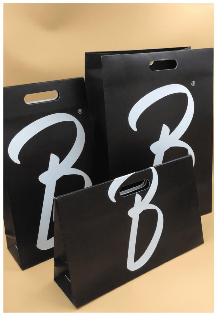 rifipack shopper in carta personalizzate maniglia fustellata vari formati