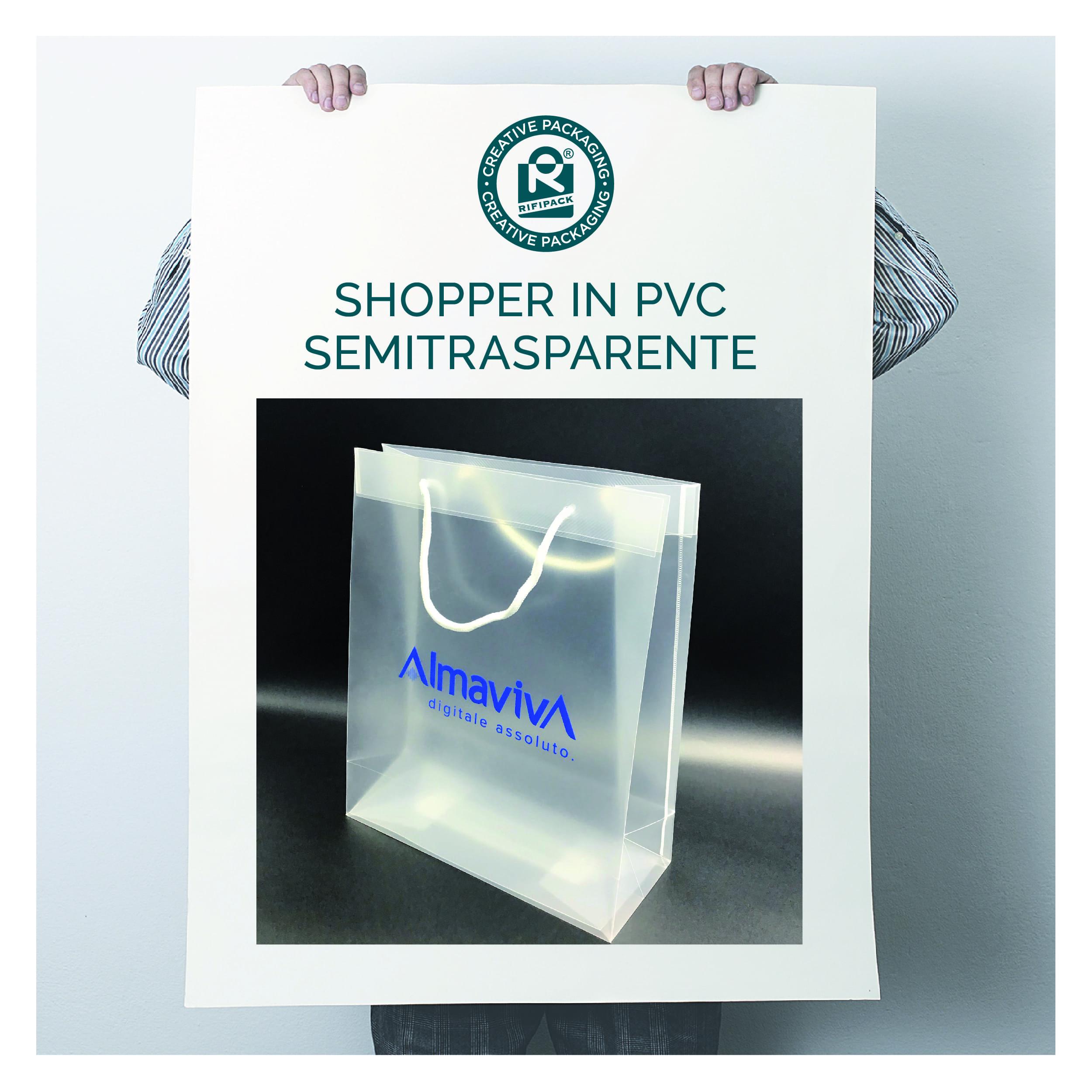 rifipack shopper in pvc semitrasparente