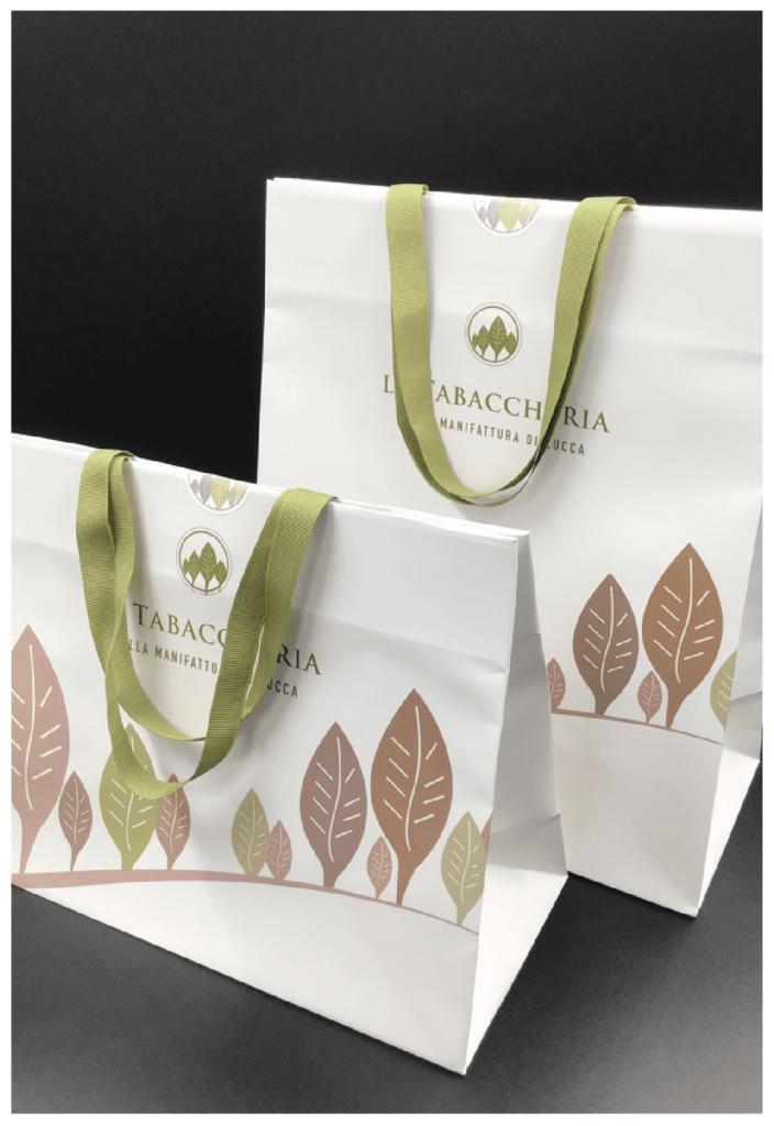 rifipack sigaro toscano shopper personalizzate lusso la tabaccheria quadricromia