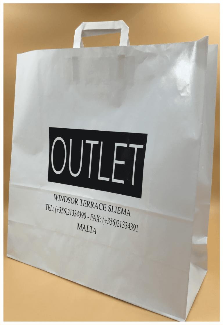shopper personalizzate rifipack busta outlet busta economica maniglia piatta