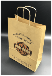 shopper rifipack harley davidson maniglia ritorta carta kraft ecologica riciclabile