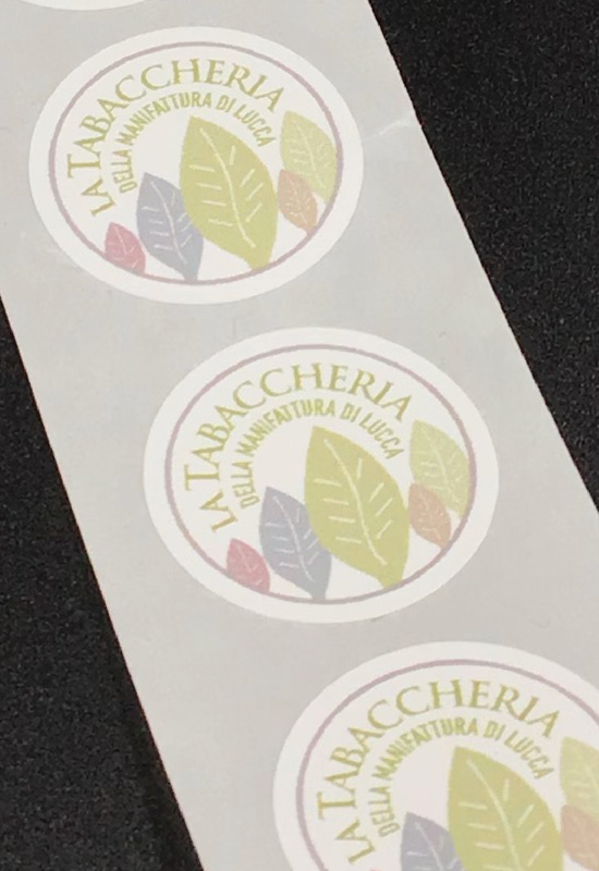 bollini adesivi chiudibusta chiudipacco carta forma tonda la tabaccheria sigaro toscano rifipack