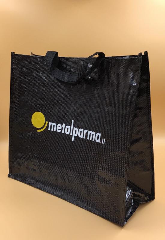 borsa spesa riutilizzabile polipropilene nero resistente formato maxi grande rifipack