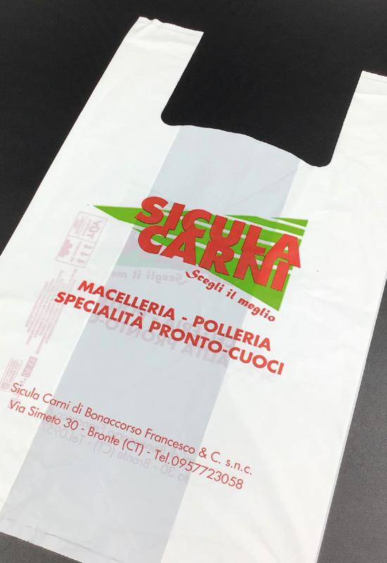 buste shopper biodegradabili compostabili personalizzate macelleria food cibo asporto polleria rifipack