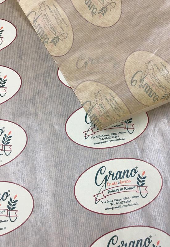 carta da involgere politenata sealing alimentare food cibo personalizzata
