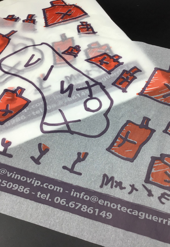 carta velina fogli personalizzata enoteca stampa 2 colori rifipack