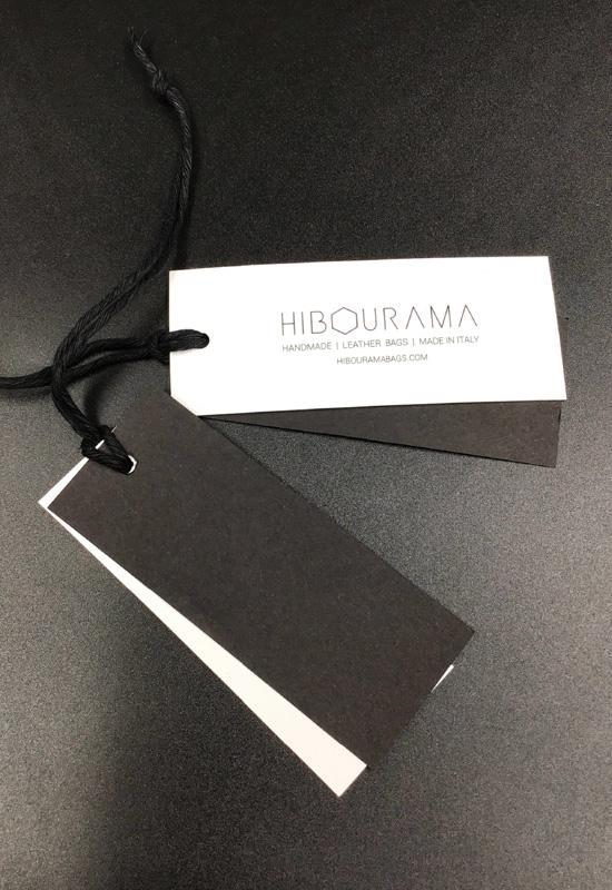 cartellini personalizzati rifipack cartoncino pesante moda accessori borse con laccetto