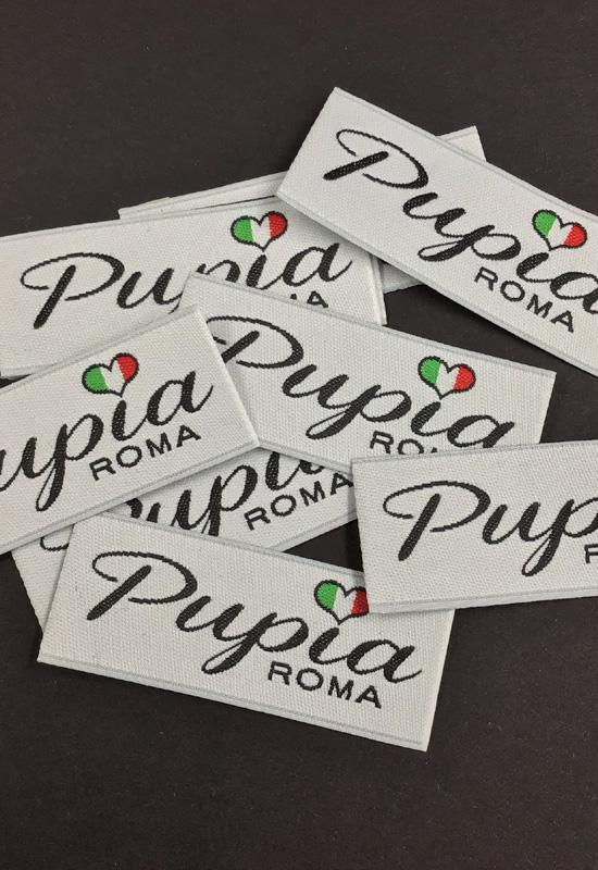 etichette tessute personalizzate ricamate made in italy abbigliamento moda retro collo 3 colori rifipack