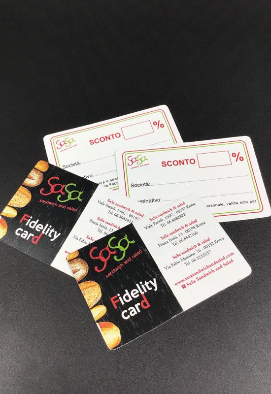 fidelity card buono sconto cartoncino fidelizzazione cliente promozionale promo raccolta punti fedeltà rifipack stampa logo