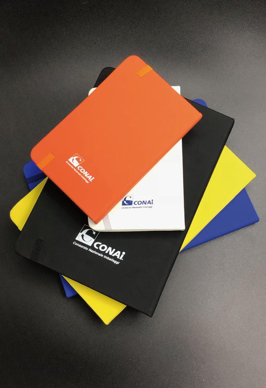 gadget promozionali conai agende quaderni agendine personalizzati stampa logo vari colori rifipack