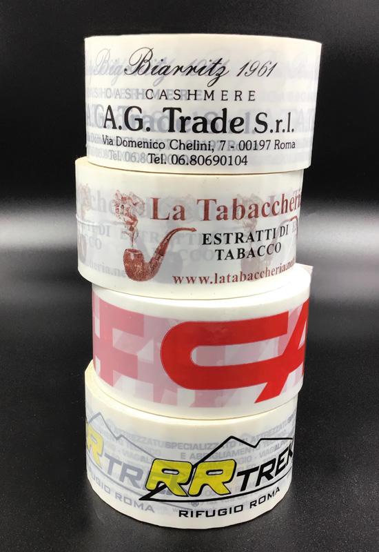nastro adesivo personalizzato scotch polipropilene pvc bianco imballaggio pacchi spedizioni e-commerce rifipack