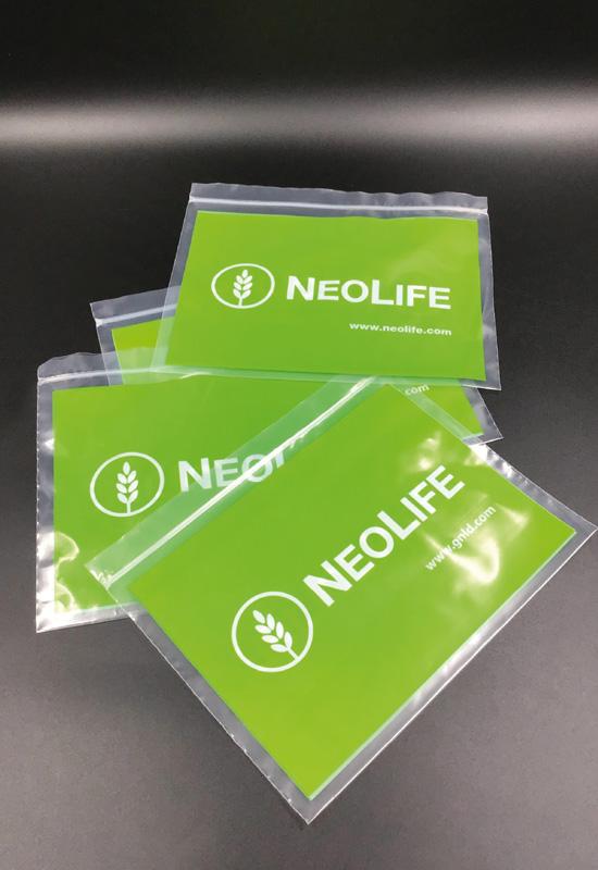 neolife bustine chiusura a pressione sacchetti plastica trasparente colorata chiusura minigrip zip personalizzate stampa logo rifipack