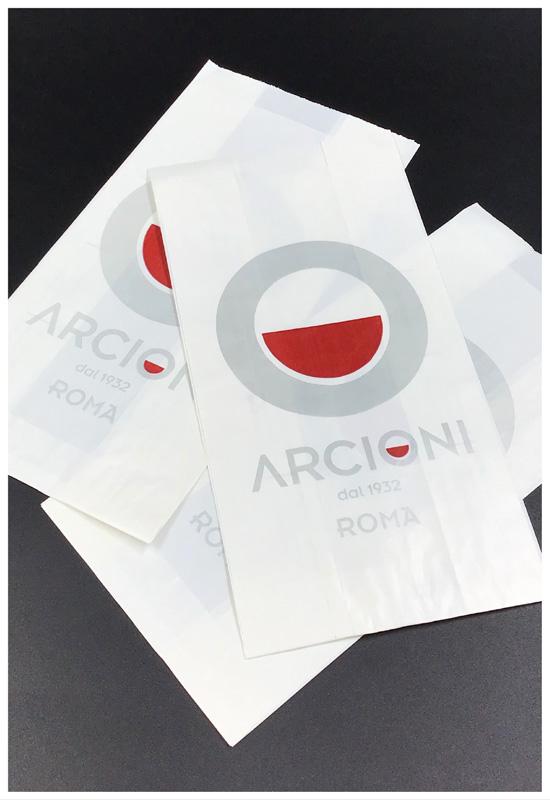 sacchetti cornetti carta alimentare stampa logo personalizzato