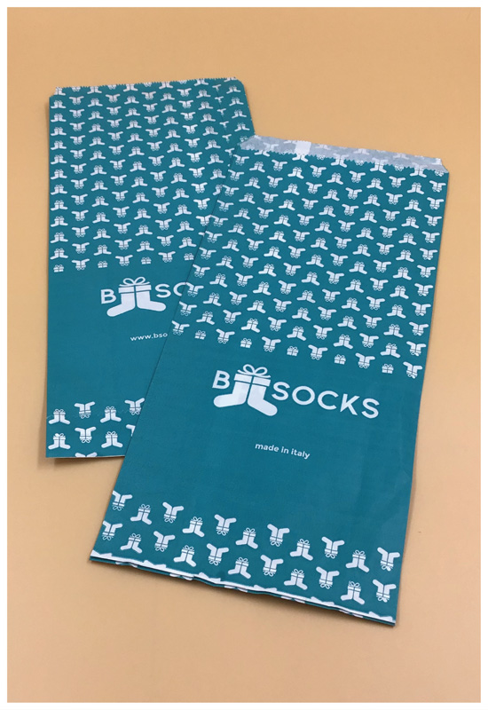 sacchetti fondo piatto fondo colorato calze b socks rifipack